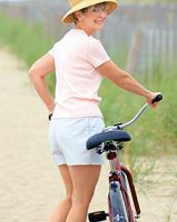 Woman on Bike after Thigh Lift