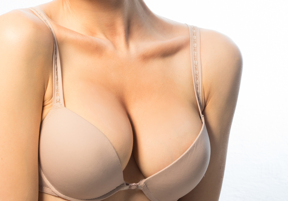 Saline breast augmentation before and after