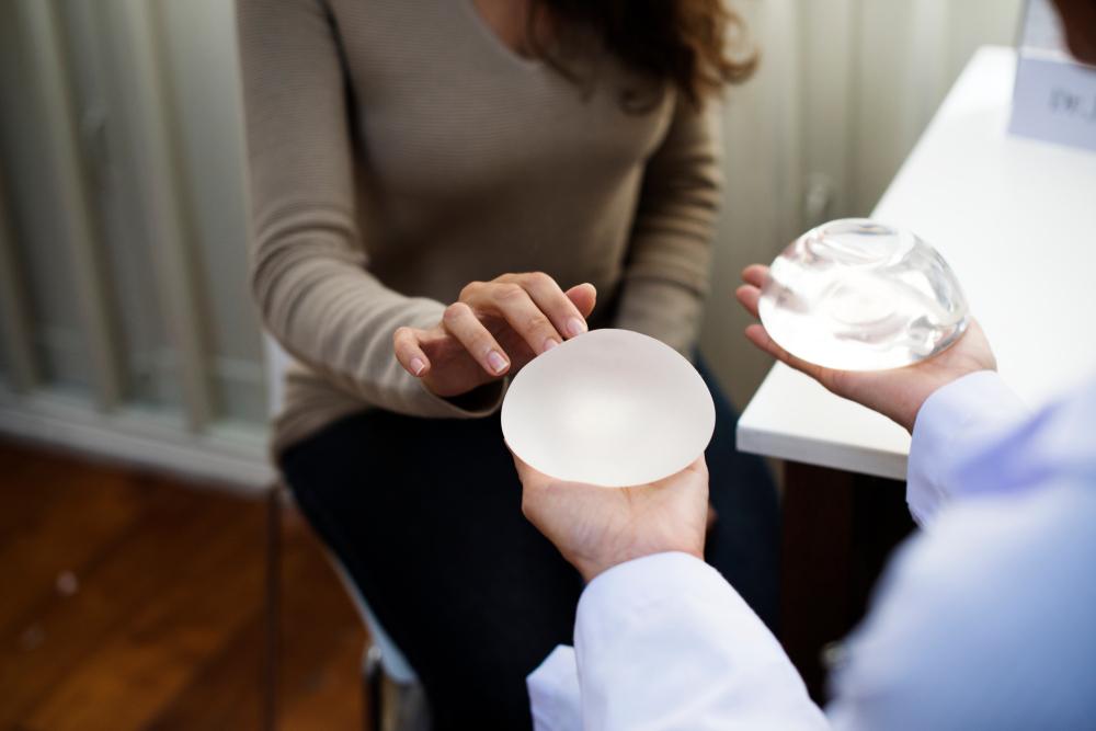 Saline breast implants photos are
